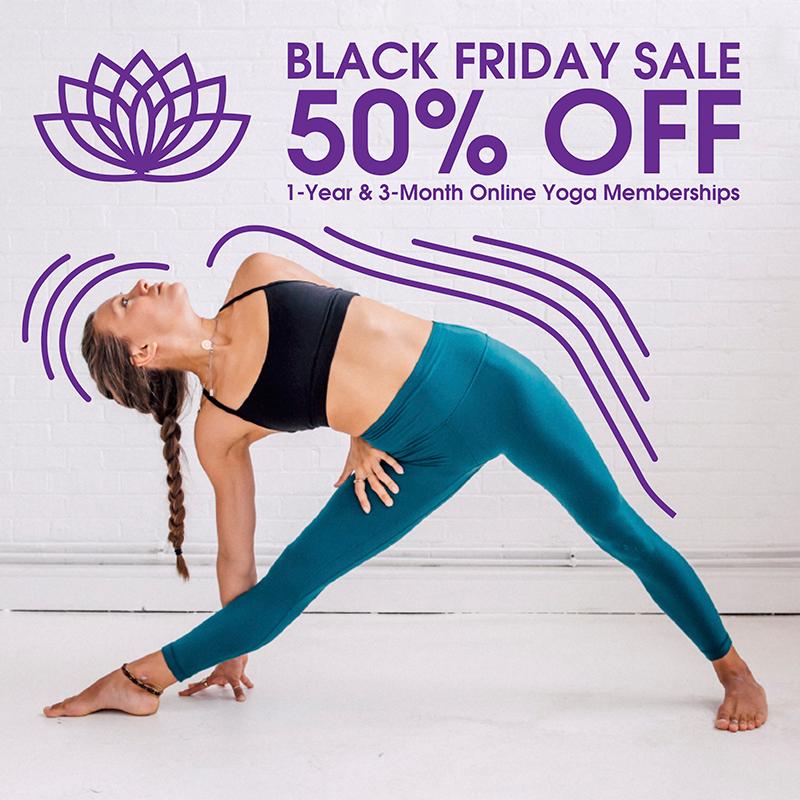 black friday, cyber monday, blackfriday, yoga, holidays, 50 off