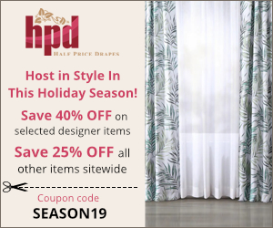 40% off Designer Silk Curtains