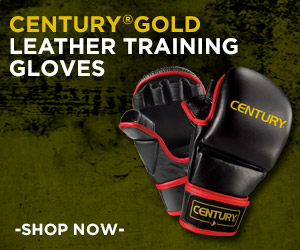 Century Gold Leather Fight Gloves