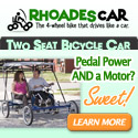 2 Person Cycle Car with Electric Assist