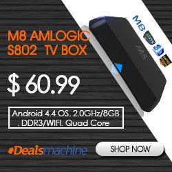 M8 Amlogic S802 Quad Core TV Box at Dealsamchine.com!