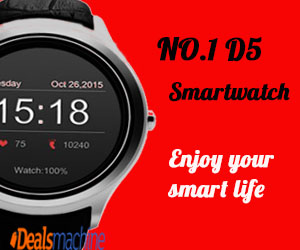 DealsMachine - 300x250_No.1 D5 Smartwatch