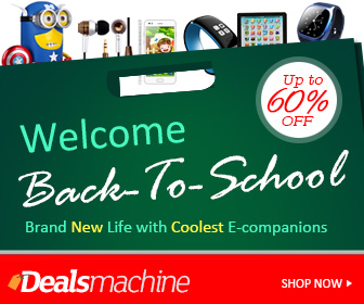 Back To School Sale at dealsmachine.com! UP to 60% OFF! Brand New Life with New E-companions!
