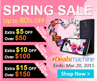 Spring Sale! Save Up to $15 OFF at Dealsmachine! (Ends: Mar.20, 2015)