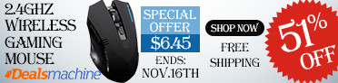 Up to 51% OFF + Free Shipping fro the 2.4 GHz Wireless Gaming Mouse! (Ends: Nov.16th)
