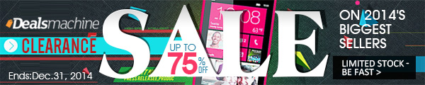 Clearance Sale On 2014 Biggest Sellers: Up to 75% OFF at Dealsmachine! (Ends: Dec.31, 2014)