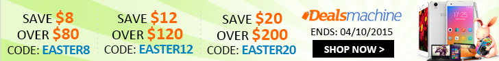 Easter Sale: Save Up to $20 at Dealsmachine! (Ends: Apr.10, 2015)