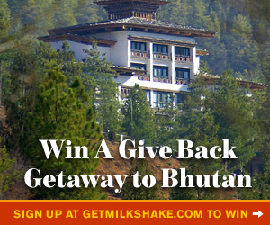 Sign up for Milkshake's Great Give Back Getaway