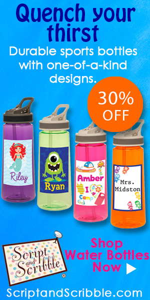 Shop personalized and unique water bottles with 30% OFF