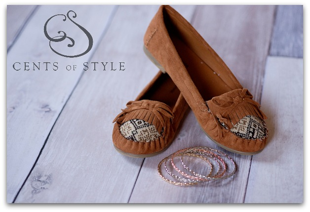 Fashion Friday- 10/25/13- Moccasin Flat and FREE Bracelets- $21.95 & FREE SHIPPING with Code COZY