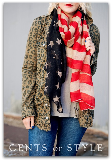 Stars & Stripes Scarf- $4.99 and FREE SHIPPING with Code STARS2