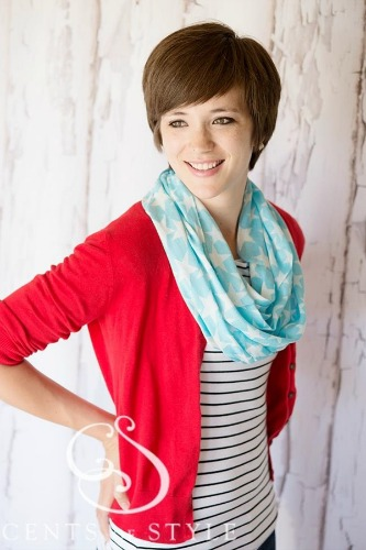 FREE star infinity scarf with purchase of $15.00, many not be combined with any other offers or coupon codes.