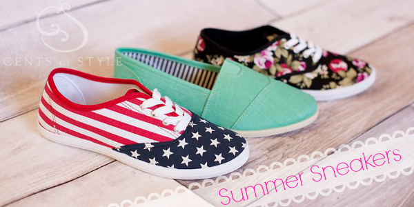 Fashion Friday- 7/12/13- Summer Sneakers for Under $20.00 with Code KICKS