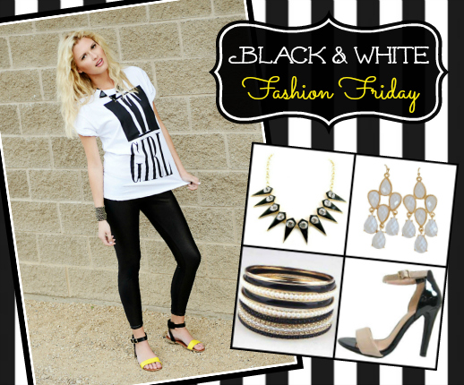 Fashion Friday- 5/31/13- Black & White, most items under $10, Boots from $22.00 with code BLACK