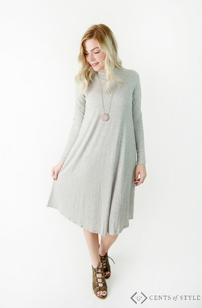 How to Wear a Long Sleeve Swing Dress