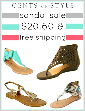 Sandal Sale- $20.60 and FREE SHIPPING