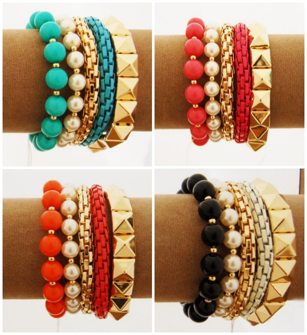 Add these 5 bracelets for $4.99 when you purchase one of the special $9.98 scarves