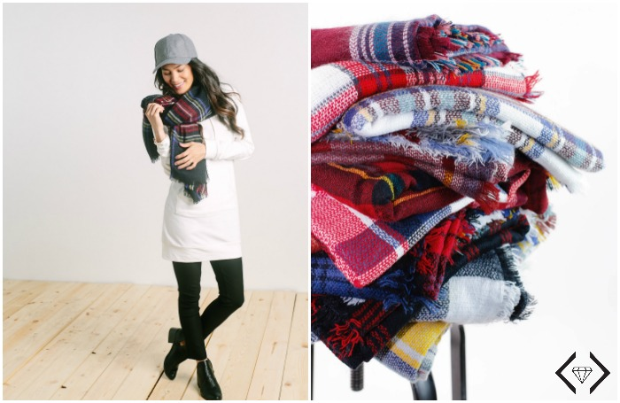 IMAGE: Plaid Blanket Scarves- $12.95 & FREE SHIPPING
