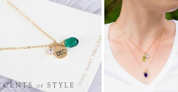 IMAGE: Fashion Friday-8/22/14-Birthstone Pendant Necklace- $6.95 & FREE SHIPPING w/ Code FASHIONFRIDAY