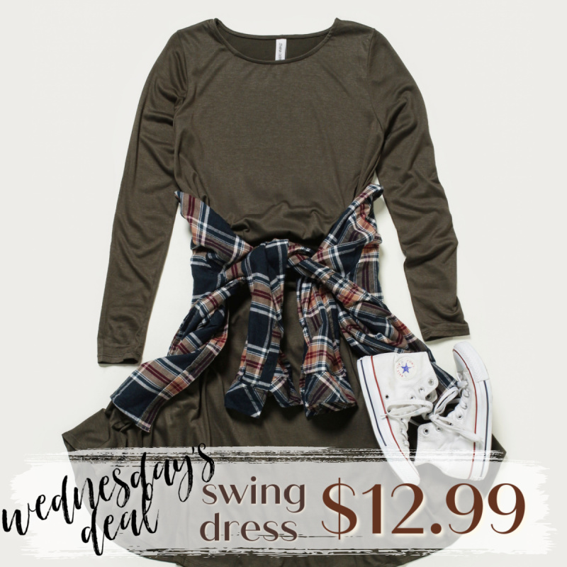 Wednesday Deal/ Black Friday: Swing Dress Was: $24.95 Now: $12.99.