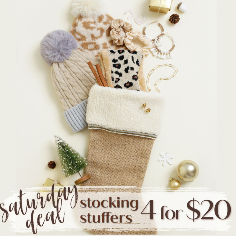 Saturday Stocking Stuffers Event: Get 4 items for $20.