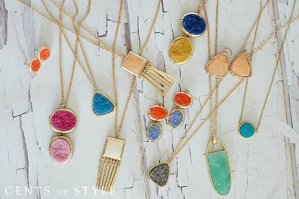 IMAGE: Fashion Friday- Druzy Jewelry- $6.95 & FREE SHIPPING, +$4.99 Scarf Upsell w/ Code DRUZY2