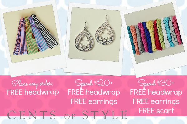 Free Item with Every Order, 2 Free Items with $20 Spent, 3 Free with $30 Spent