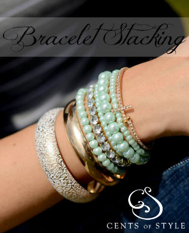 Fashion Friday- 5/10/13- Stacking Bracelets for $15.95 with code STACKING