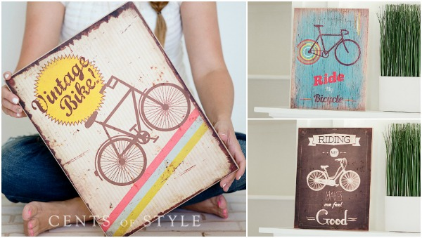 Wooden Bicycle Sign - $11.95 +...