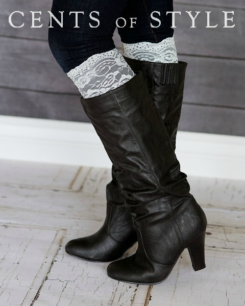 IMAGE: Lace Boot Cuff- $9.95 & FREE SHIPPING w/ Code DIVA101