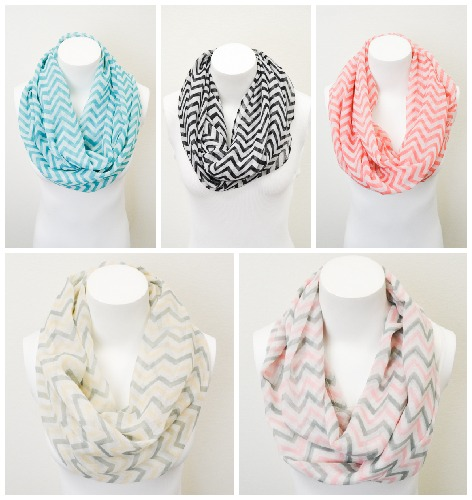 Use coupon code MSMSCARF to get chevron infinity scarf for $7.95 & FREE SHIPPING