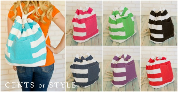 STYLE STEALS- 9/24/14- Nautical Backpack- $8.95 & FREE SHIPPING
