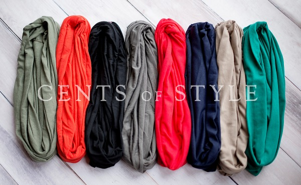 T-Shirt Infinity Scarf- $7.95 & FREE SHIPPING with Code SCARFLOVE
