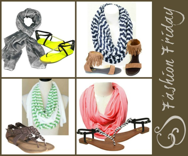 Fashion Friday- 4/5/13- Buy a Sandal at $24.95 and Get a Scarf FREE with the code SPRINGLOOK