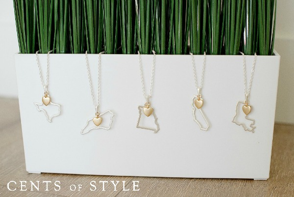 IMAGE: Fashion Friday- State Necklaces- $11.95 & FREE SHIPPING w/ Code STATE, +15% Commission