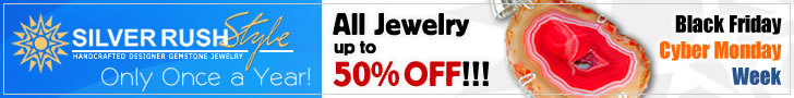 Black Friday & Cyber Monday Deals Week - All Jewelry up to 50% OFF at www.SilverRushStyle.com