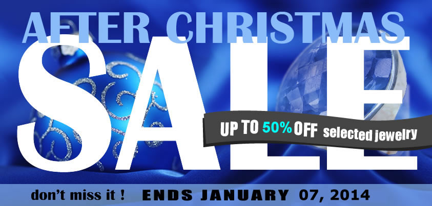 After Christmas Super Sale! Up to 50% OFF on Selected Jewelry