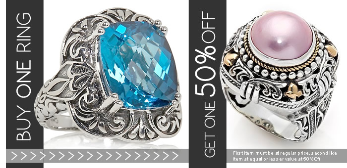 Buy Any Ring, Get 50% OFF a Second Ring at www.SilverRushStyle.com