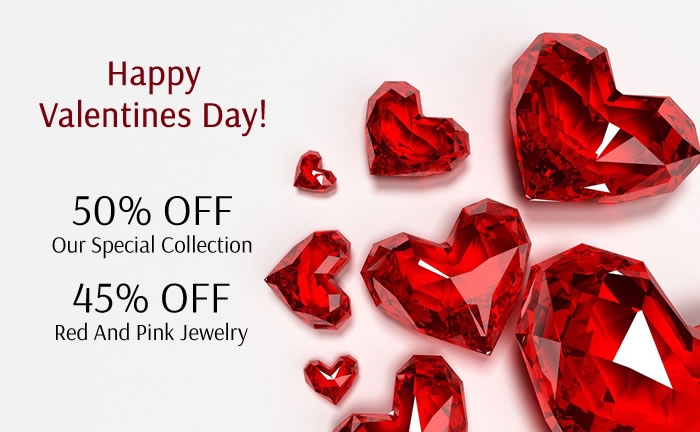 50% OFF Our Valentine's Day Collection,
