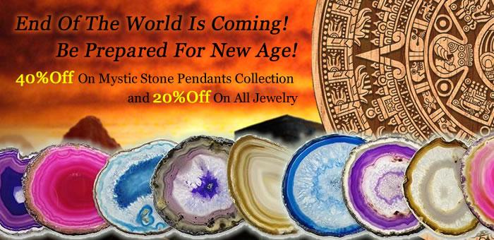 40% OFF on New Mystic Stone Pendants