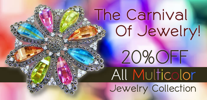20% OFF on ALL Multicolor Jewelry