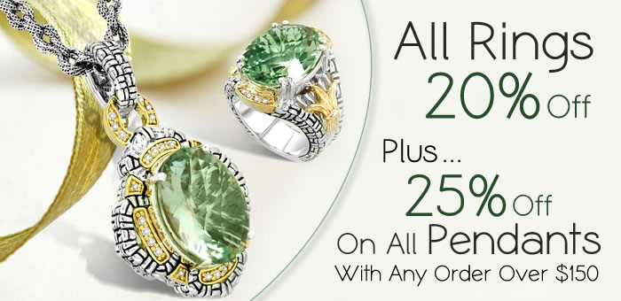 All Rings 20% OFF + 25% OFF on All Pendants at www.SilverRushStyle.com