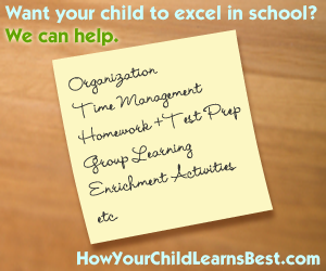 Want your child to excel in school? We can help.