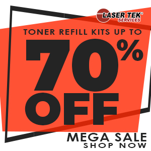 Get 85% discount on LaserTek toner refill kits