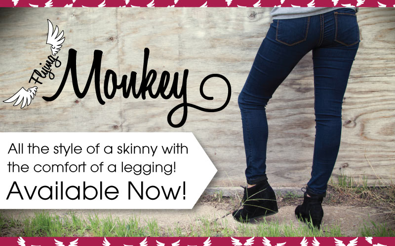 Colored Flying Monkey Jeggings