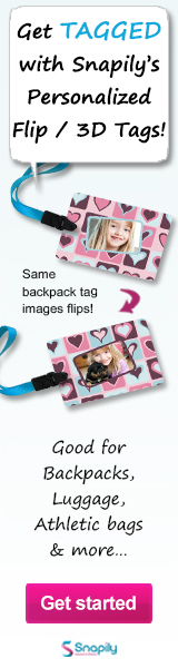 Get TAGGED with Snapily - personalized & printed 3D or animated backpack tags