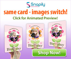 Same card - Images switch! Animated photo card