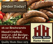 Hand-crafted Bratwursts