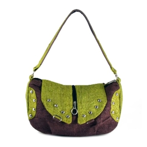 green hemp ladies handbag