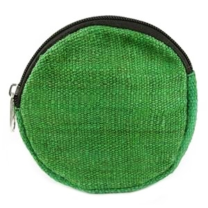 green hemp coin purse